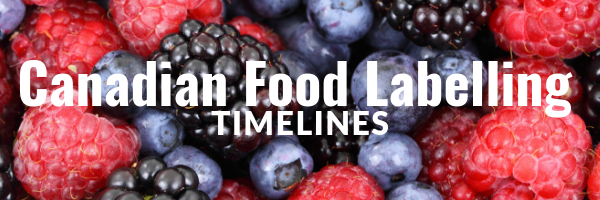 Canadian Food Labelling Timelines