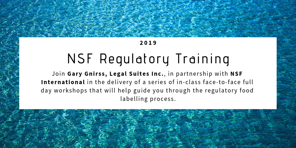 NSF Regulatory Training